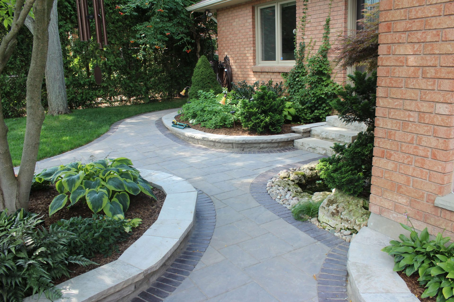 Paved pathway to entrance